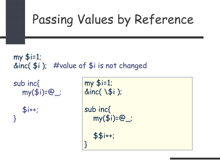 Passing Values by Reference