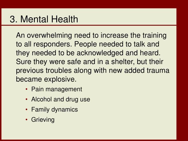 3. Mental Health