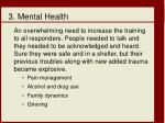 3 mental health