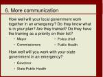 6 more communication