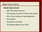 state farm cont