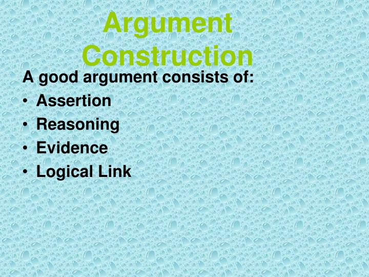 Argument Construction