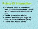 points of information
