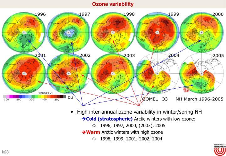 Ozone variability