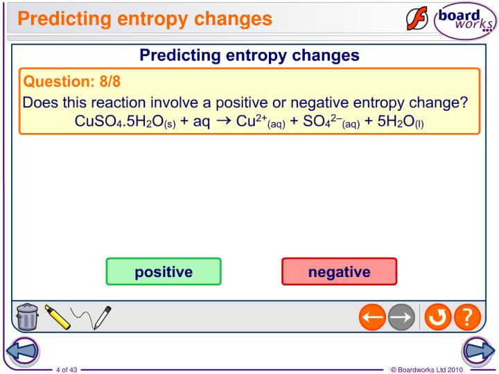 Predicting entropy changes