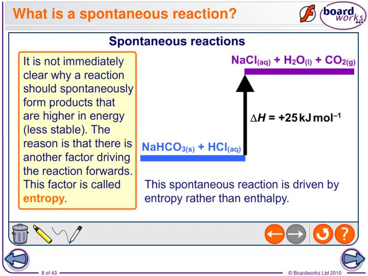 What is a spontaneous reaction?