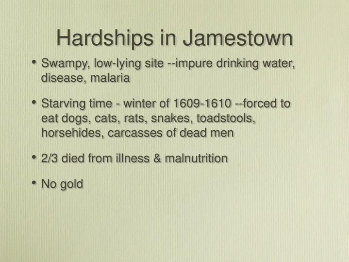 Hardships in Jamestown