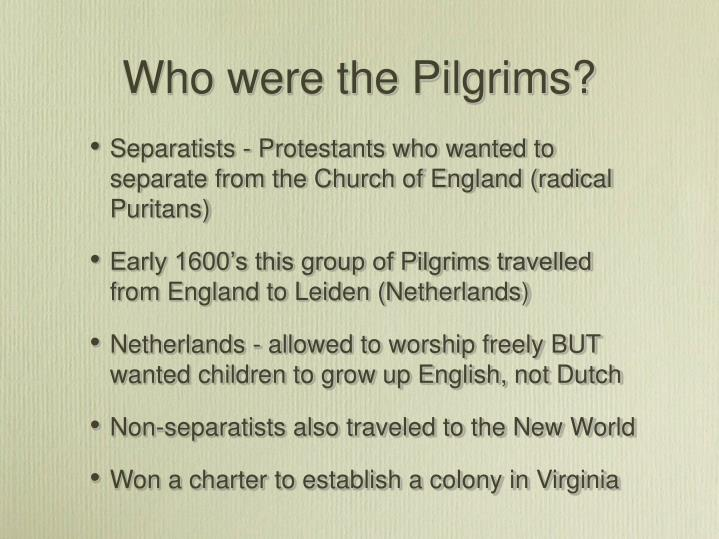 Who were the Pilgrims?