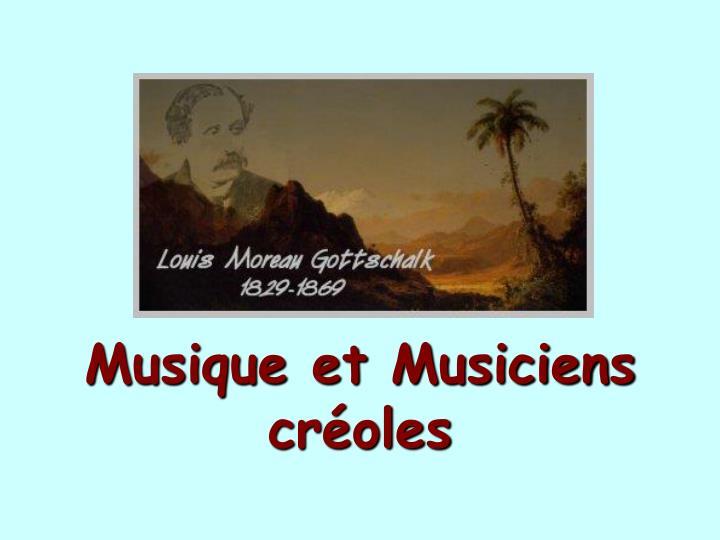 Musique et Musiciens croles