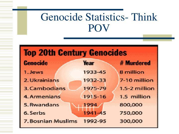 Genocide Statistics- Think POV