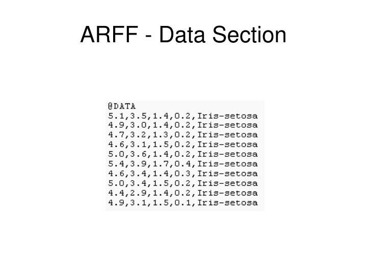 ARFF - Data Section