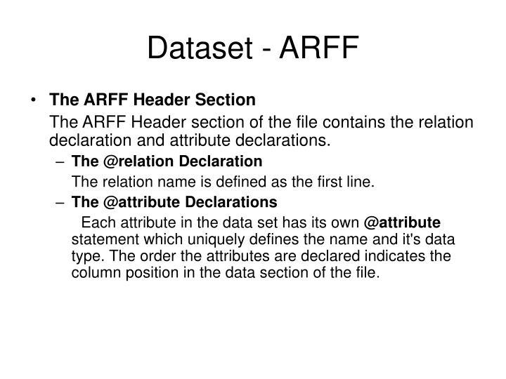 Dataset - ARFF