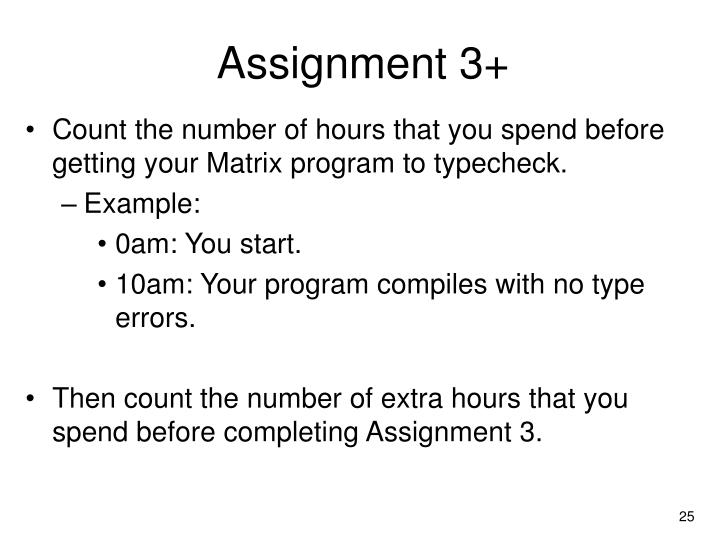 Assignment 3+