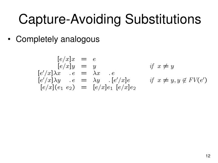 Capture-Avoiding Substitutions