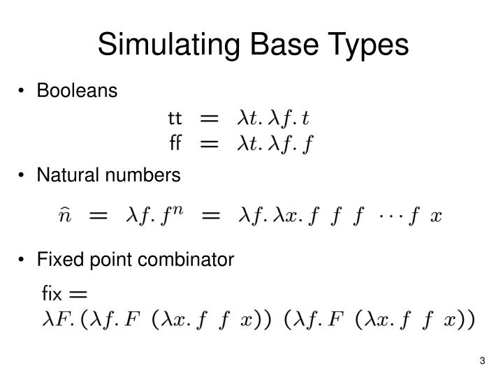 Simulating Base Types