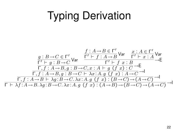 Typing Derivation