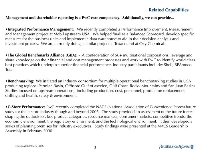 Related Capabilities