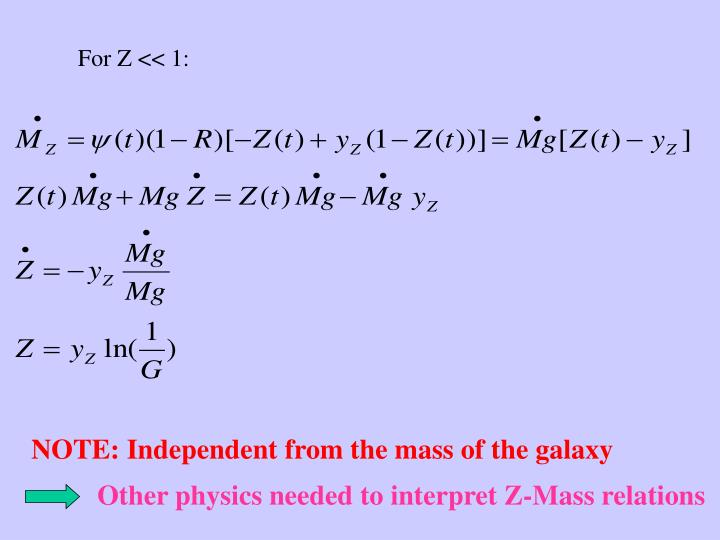 NOTE: Independent from the mass of the galaxy