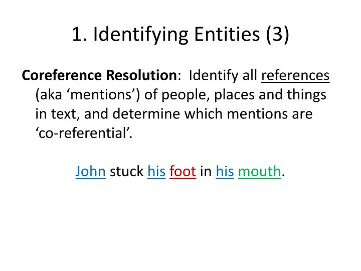 1. Identifying Entities (3)