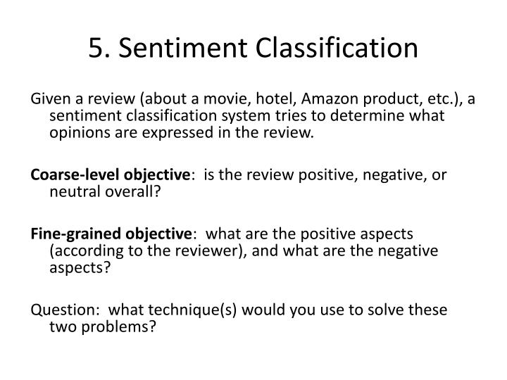 5. Sentiment Classification