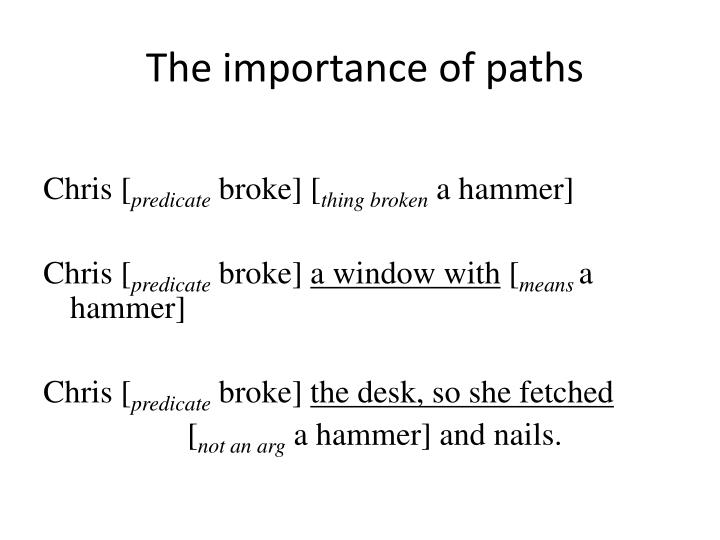 The importance of paths