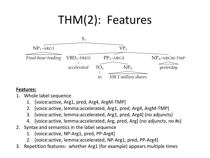 THM(2):  Features