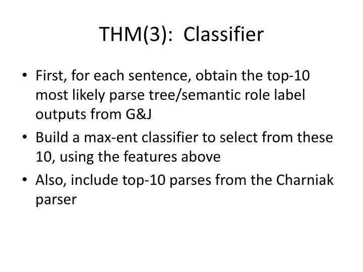 THM(3):  Classifier