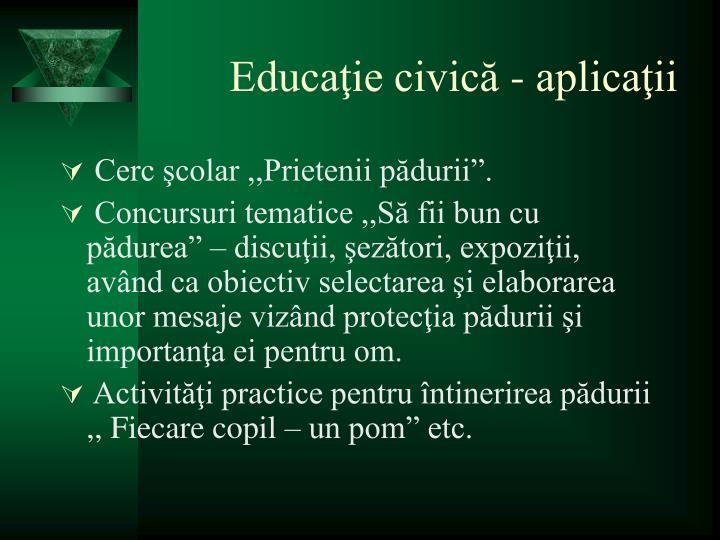 Educaţie civică - aplicaţii