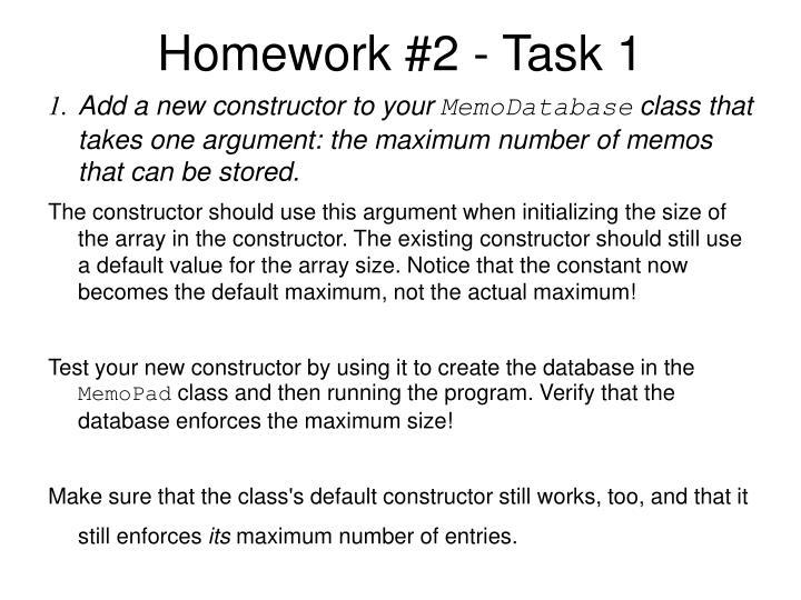 Homework #2 - Task 1