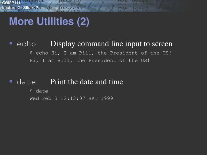More Utilities (2)