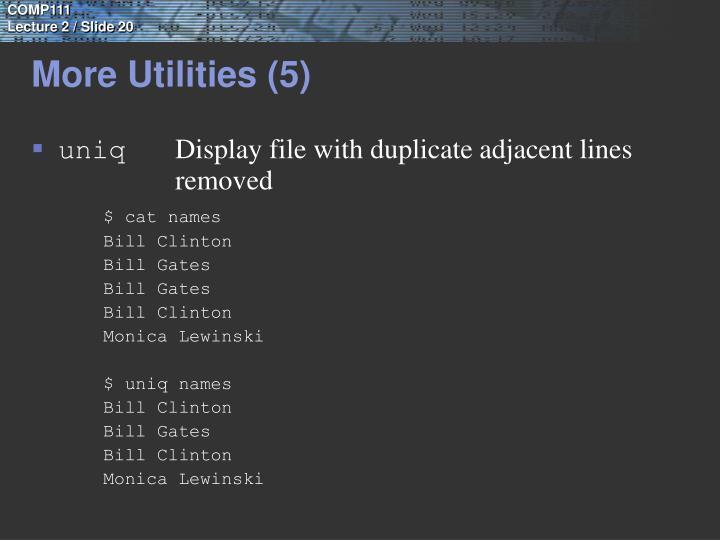 More Utilities (5)