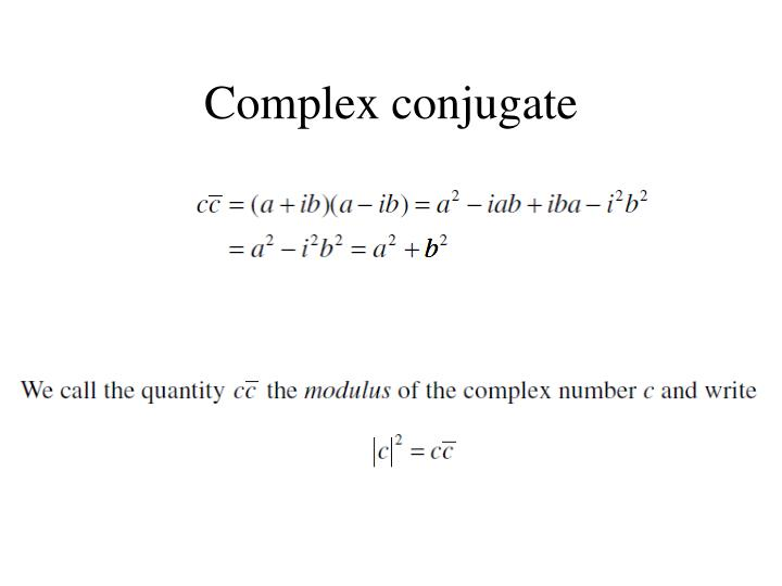 Complex conjugate