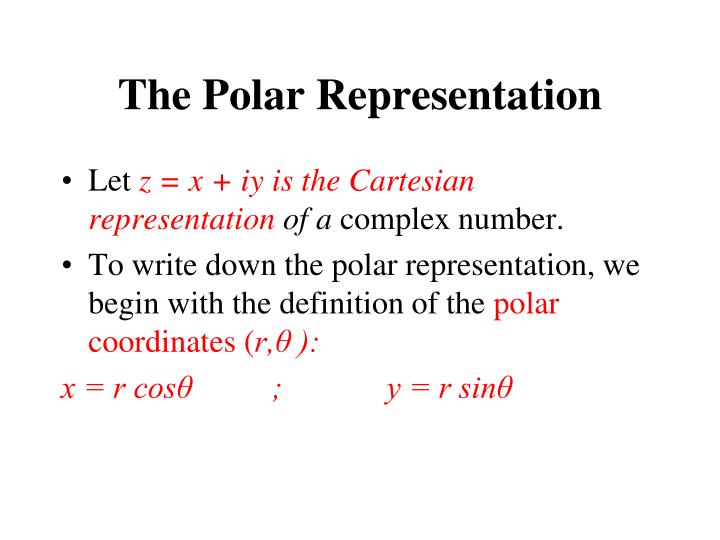 The Polar Representation