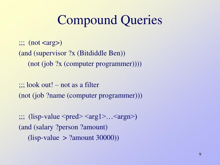 Compound Queries