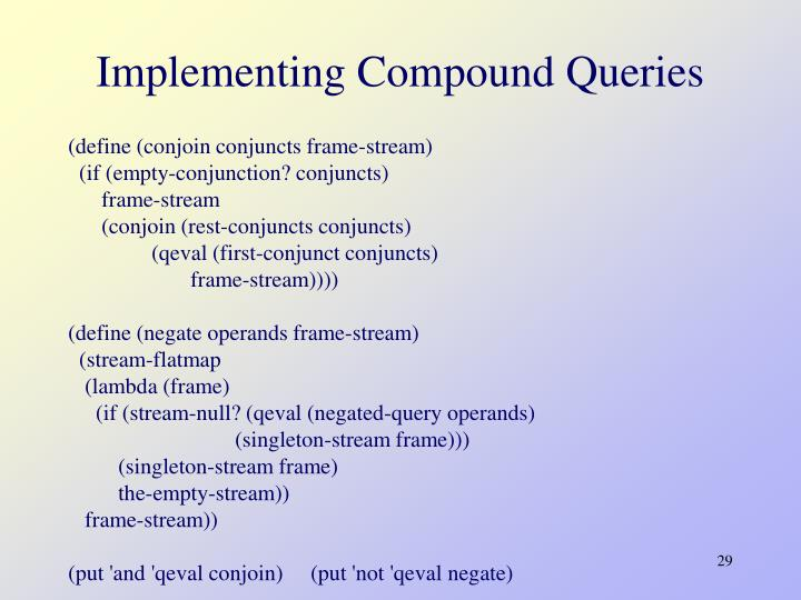 Implementing Compound Queries