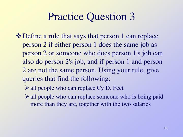 Practice Question 3