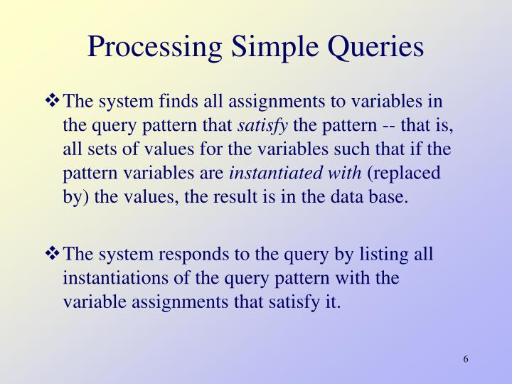 Processing Simple Queries