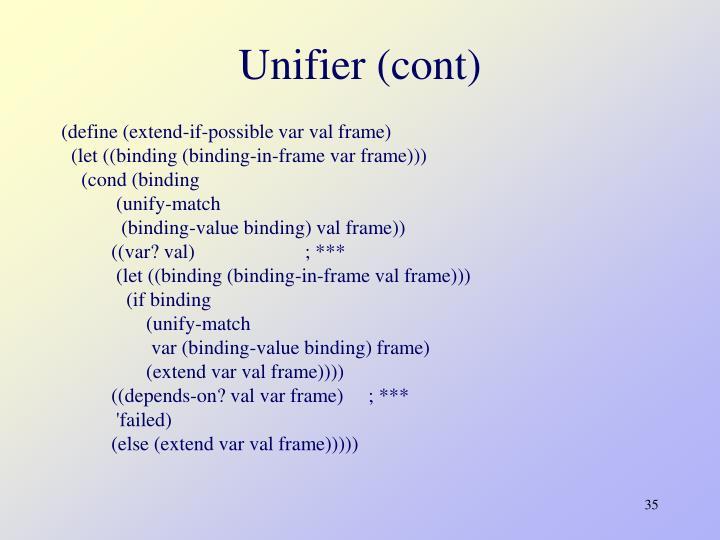 Unifier (cont)