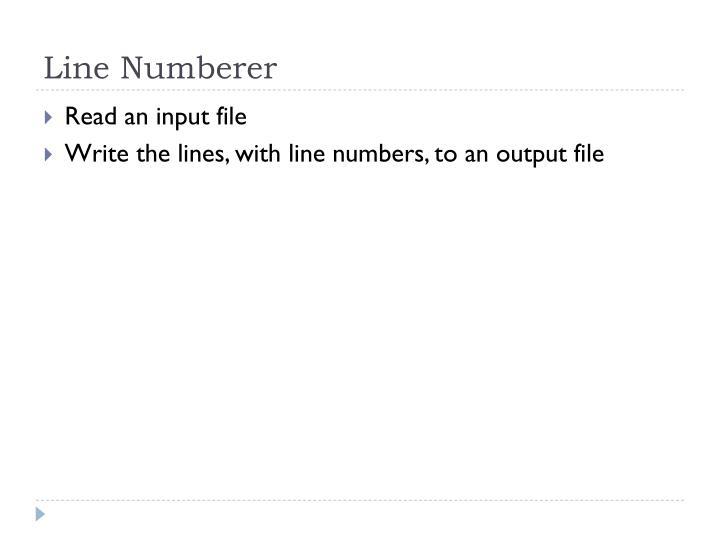 Line Numberer