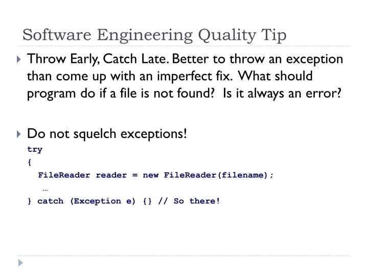Software Engineering Quality Tip