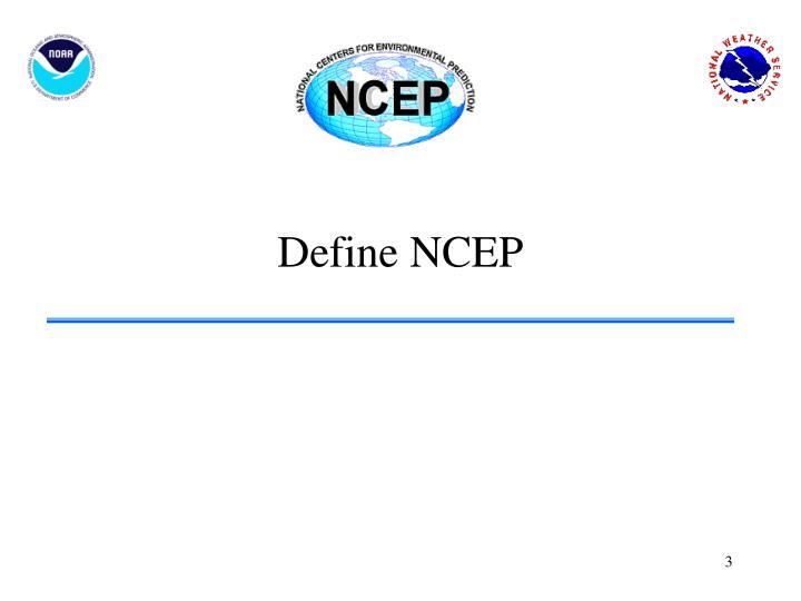 Define NCEP