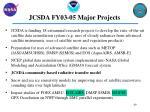 jcsda fy03 05 major projects