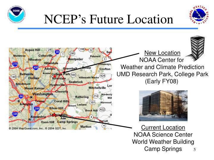NCEP's Future Location