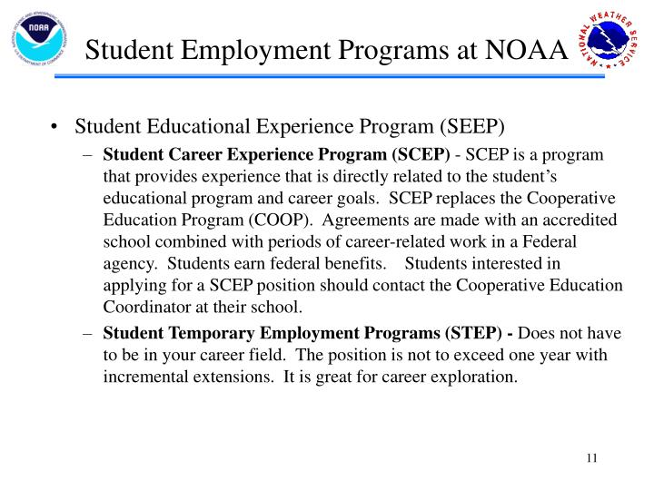Student Employment Programs at NOAA