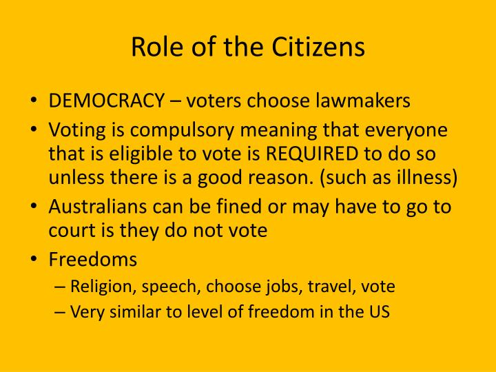 Role of the Citizens