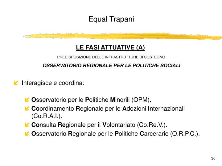 LE FASI ATTUATIVE (A)