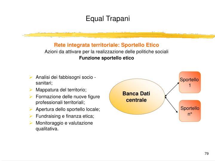 Rete integrata territoriale: Sportello Etico