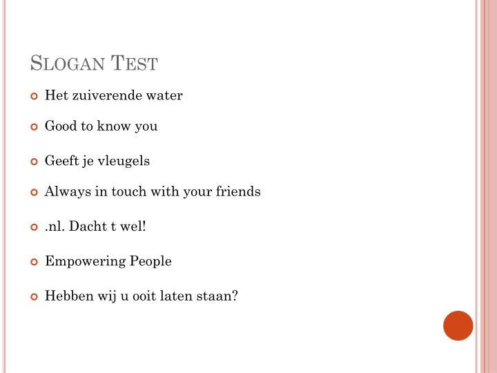 Slogan Test