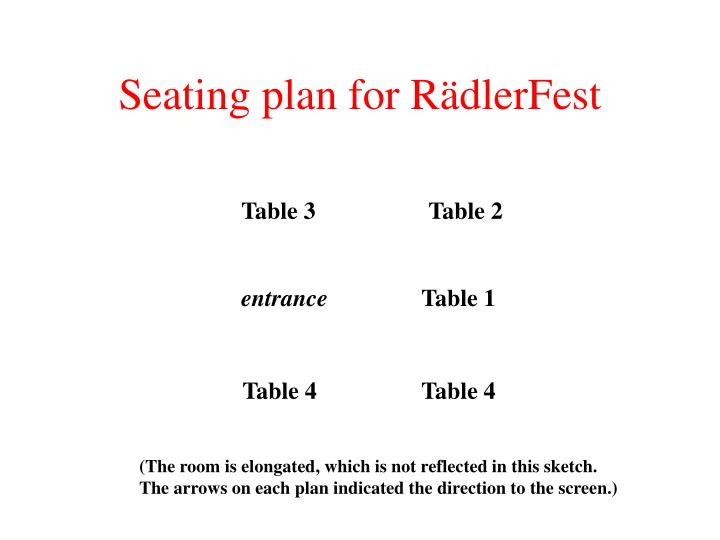 Seating plan for r dlerfest