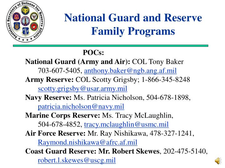 National Guard and Reserve